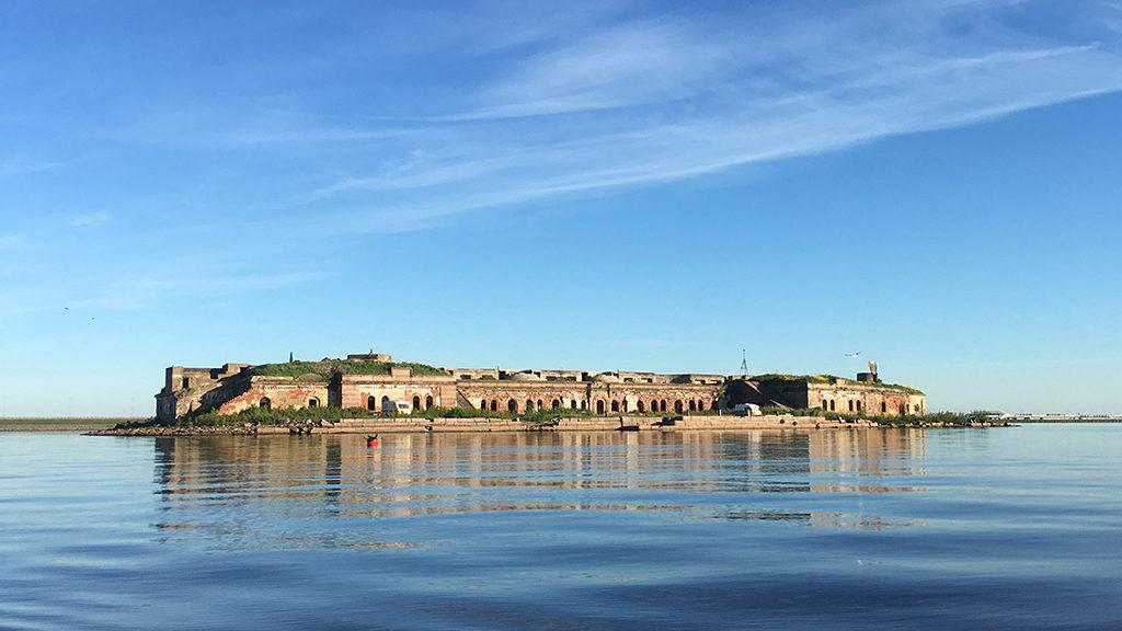 Форт Граф Милютин. Вид с юго-востока.